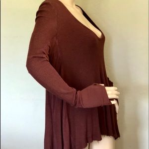 Free people Brown loose fit Tunic Top Cotton M, L